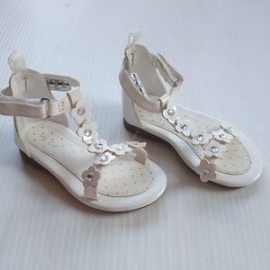 CARTERS • baby girl white flower t-strap sandals